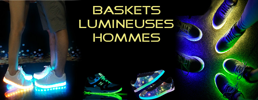 Chaussures homme - Baskets lumineuses