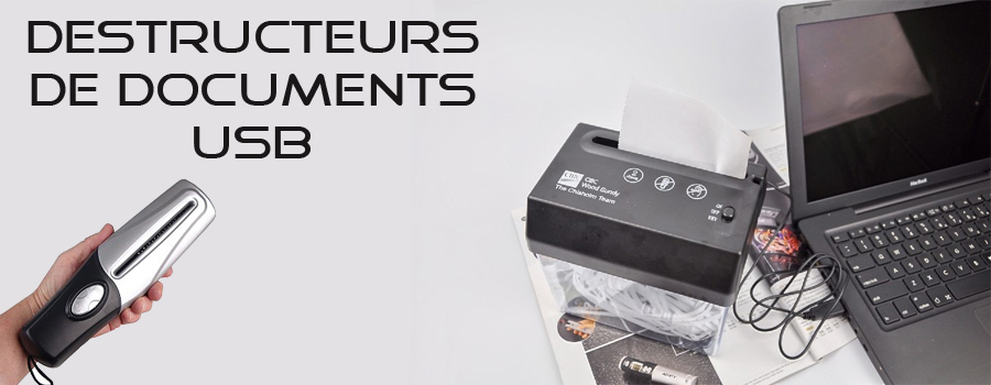 Informatique - Destructeurs de documents USB