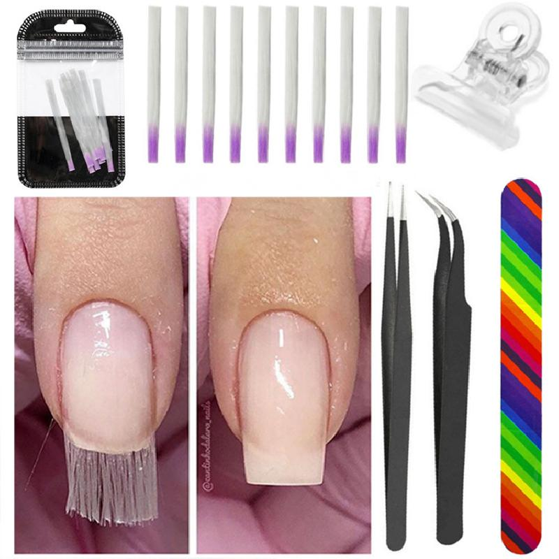 Ensemble Extension d'ongles de fibre en plastique - Ref 3425449
