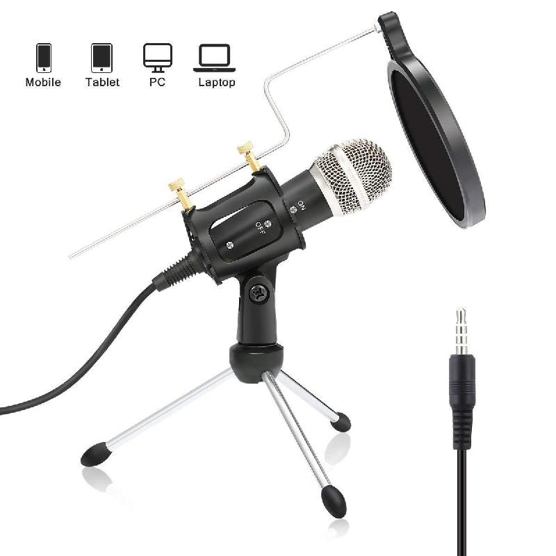 Microphone de diffusion d'interview Youtube - Ref 3426673
