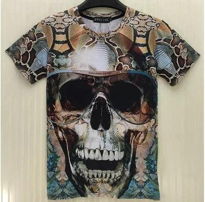 T-shirt 3D Tête de mort Pirate - Ref 456