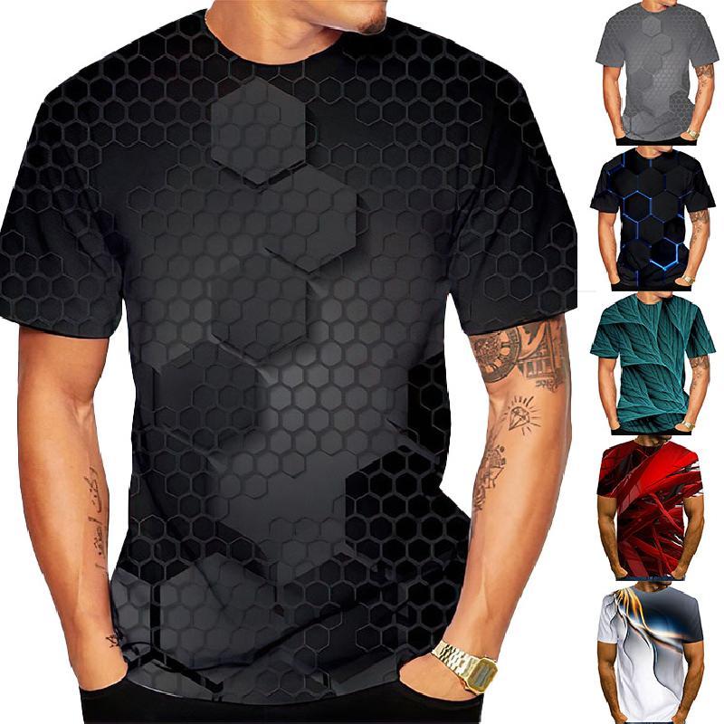 T shirt dete imprime en 3D camouflage 3427343