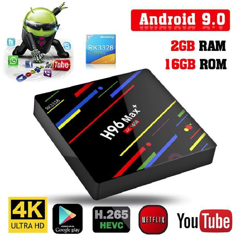 TV Box H96 Max + TV 2G 16G Android 9 - Ref 3423361