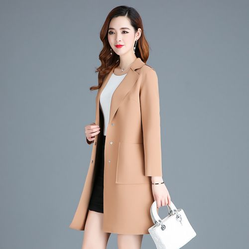 Trench pour femme LAN YINQI en Polyester - Ref 3225635
